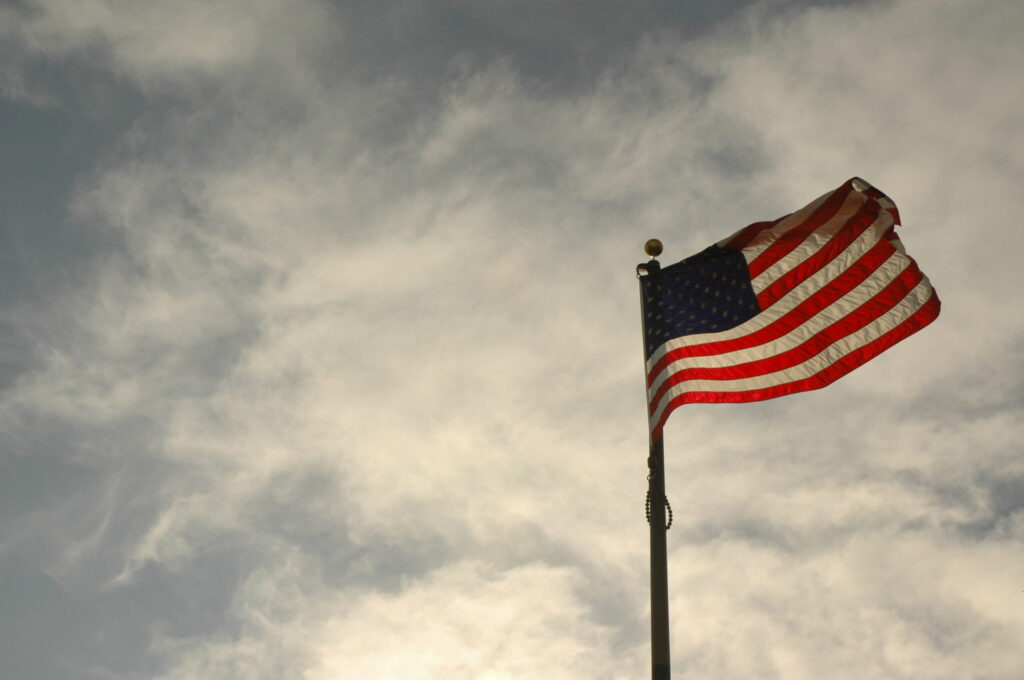 American flag photo courtesy of Cavell L. Blood via Free Images.